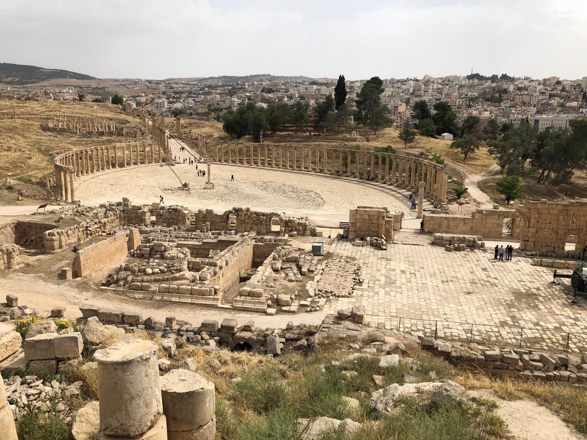 Roman ruins at Jerash, Jordan